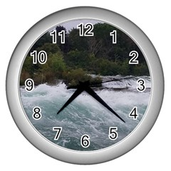 Sightseeing At Niagara Falls Wall Clocks (silver)