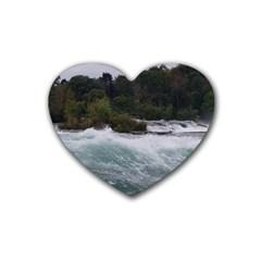 Sightseeing At Niagara Falls Rubber Coaster (heart)