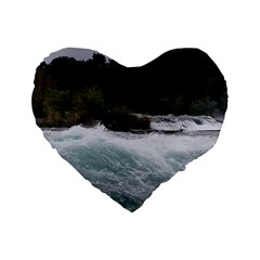 Sightseeing At Niagara Falls Standard 16  Premium Flano Heart Shape Cushions