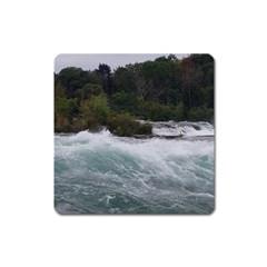 Sightseeing At Niagara Falls Square Magnet