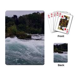 Sightseeing At Niagara Falls Playing Card