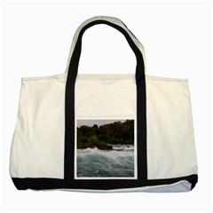 Sightseeing At Niagara Falls Two Tone Tote Bag
