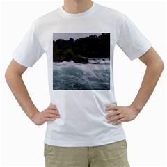 Sightseeing At Niagara Falls Men s T Shirt (white) (two Sided)