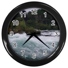 Sightseeing At Niagara Falls Wall Clocks (black)