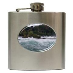 Sightseeing At Niagara Falls Hip Flask (6 Oz)