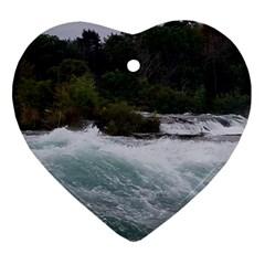 Sightseeing At Niagara Falls Heart Ornament (two Sides)
