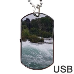 Sightseeing At Niagara Falls Dog Tag Usb Flash (one Side)