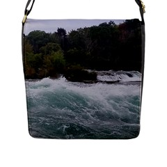 Sightseeing At Niagara Falls Flap Messenger Bag (l)