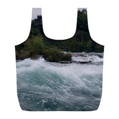 Sightseeing At Niagara Falls Full Print Recycle Bags (l)