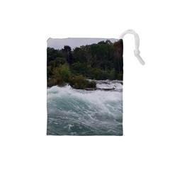Sightseeing At Niagara Falls Drawstring Pouches (small)