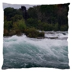 Sightseeing At Niagara Falls Large Cushion Case (one Side)