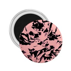 Old Rose Black Abstract Military Camouflage 2 25  Magnets
