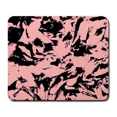 Old Rose Black Abstract Military Camouflage Large Mousepads