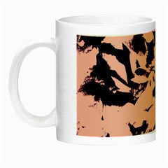Old Rose Black Abstract Military Camouflage Night Luminous Mugs