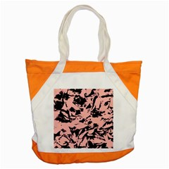 Old Rose Black Abstract Military Camouflage Accent Tote Bag
