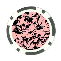 Old Rose Black Abstract Military Camouflage Poker Chip Card Guard