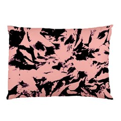 Old Rose Black Abstract Military Camouflage Pillow Case