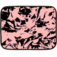 Old Rose Black Abstract Military Camouflage Fleece Blanket (mini)