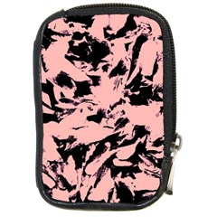 Old Rose Black Abstract Military Camouflage Compact Camera Cases