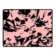 Old Rose Black Abstract Military Camouflage Fleece Blanket (small)