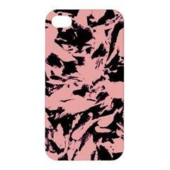 Old Rose Black Abstract Military Camouflage Apple Iphone 4/4s Premium Hardshell Case