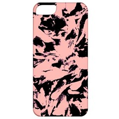 Old Rose Black Abstract Military Camouflage Apple Iphone 5 Classic Hardshell Case