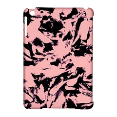 Old Rose Black Abstract Military Camouflage Apple Ipad Mini Hardshell Case (compatible With Smart Cover)