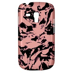 Old Rose Black Abstract Military Camouflage Galaxy S3 Mini