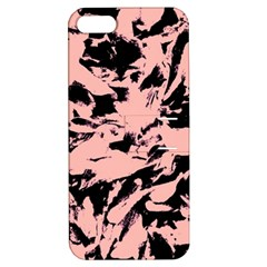 Old Rose Black Abstract Military Camouflage Apple Iphone 5 Hardshell Case With Stand