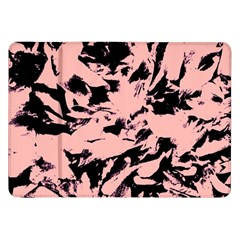 Old Rose Black Abstract Military Camouflage Samsung Galaxy Tab 8 9  P7300 Flip Case