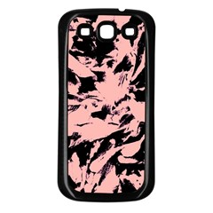Old Rose Black Abstract Military Camouflage Samsung Galaxy S3 Back Case (black)
