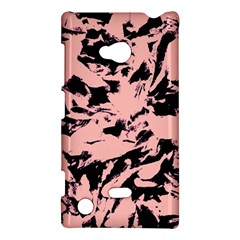 Old Rose Black Abstract Military Camouflage Nokia Lumia 720