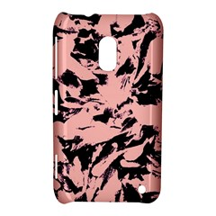 Old Rose Black Abstract Military Camouflage Nokia Lumia 620