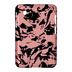 Old Rose Black Abstract Military Camouflage Samsung Galaxy Tab 2 (7 ) P3100 Hardshell Case