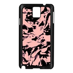 Old Rose Black Abstract Military Camouflage Samsung Galaxy Note 3 N9005 Case (black)