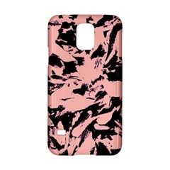 Old Rose Black Abstract Military Camouflage Samsung Galaxy S5 Hardshell Case