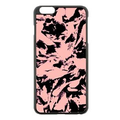Old Rose Black Abstract Military Camouflage Apple Iphone 6 Plus/6s Plus Black Enamel Case
