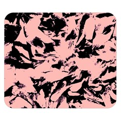 Old Rose Black Abstract Military Camouflage Double Sided Flano Blanket (small)