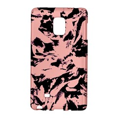 Old Rose Black Abstract Military Camouflage Galaxy Note Edge