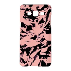 Old Rose Black Abstract Military Camouflage Samsung Galaxy A5 Hardshell Case