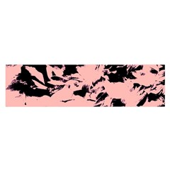 Old Rose Black Abstract Military Camouflage Satin Scarf (oblong)
