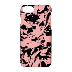 Old Rose Black Abstract Military Camouflage Apple Iphone 7 Hardshell Case