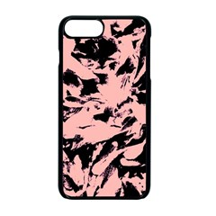 Old Rose Black Abstract Military Camouflage Apple Iphone 7 Plus Seamless Case (black)