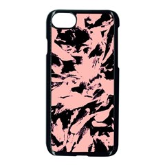 Old Rose Black Abstract Military Camouflage Apple Iphone 7 Seamless Case (black)