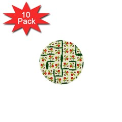 Plants And Flowers 1  Mini Buttons (10 Pack)