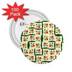 Plants And Flowers 2 25  Buttons (100 Pack)