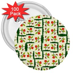 Plants And Flowers 3  Buttons (100 Pack)