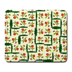 Plants And Flowers Large Mousepads