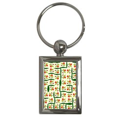 Plants And Flowers Key Chains (rectangle)