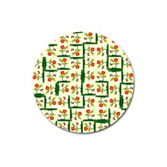 Plants And Flowers Magnet 3  (round)